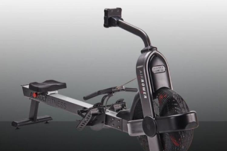 Assault Air Rower ELITE - Front View with a gradient background