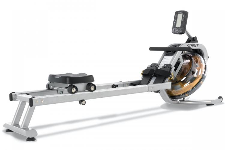 Spirit Fitness CRW800H2O Water Rower - Angle View