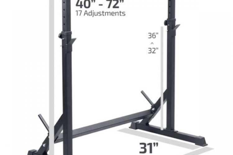 FIT505 SAFETY SQUAT RACK with measurements