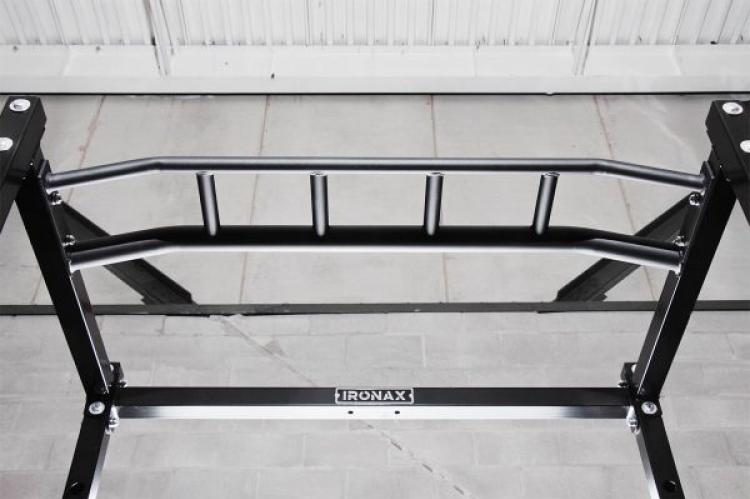 Ironax power rack looking up view