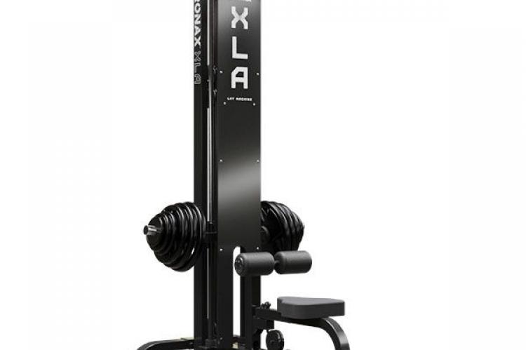 IRONAX XLA Lat Machine front side view with weights