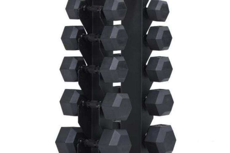 XM 6 Pair Vertical Dumbbell Rack SET with dumbells