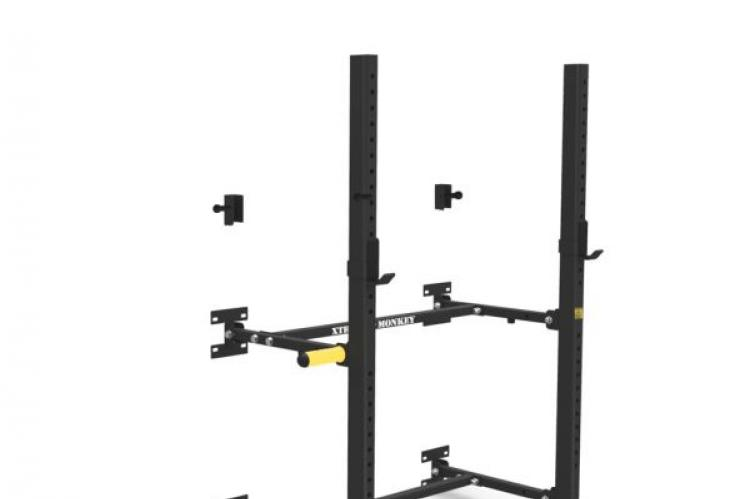 XM Fitness Wall Mounted Fold Up Rack Version 2 Base view
